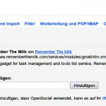 Remember The Milk-Termine direkt in Gmail anzeigen