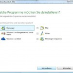 So de-installieren Sie Windows Live Messenger